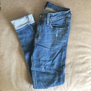 Just Black light wash skinny jeans size 28